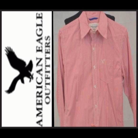 American Eagle Vintage cut Men's Striped LS Shirt